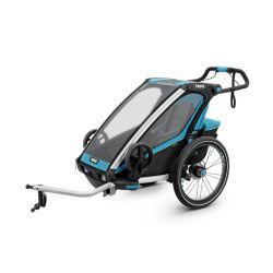 Lastenkuljetusperäkärry THULE Chariot Sport 1, sininen