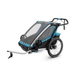 Lastenkuljetusperäkärry THULE Chariot Sport 2, 2019, sininen