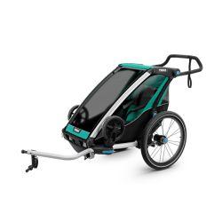 Lastenkuljetusperäkärry THULE Chariot Lite 1, 2019, vihreä