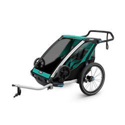 Lastenkuljetusperäkärry THULE Chariot Lite 2, 2019, vihreä