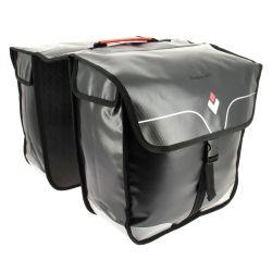 Sivulaukku tavaratelineeseen HAPO-G, 2- puoleinen, vedenpitävä, 2x16 L, musta