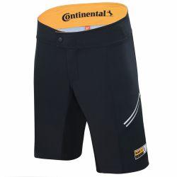 Ajohousut lyhyet CONTINENTAL MTB, musta-keltainen, XL