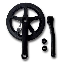 Kampipari LASCO 46/170mm alu, nelikantti, syvyys 0mm, ketjusuojalla, musta