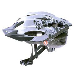 Pyöräilykypärä X-COOL City Jr, valkoinen/hopea 54-58
