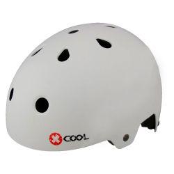 Pyöräilykypärä X-COOL BMX mattavalkoinen, 54-58, säätöpannalla