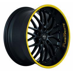 VOLTEC T6 Mattblack Puresports / Color Trim gelb 8.0x19