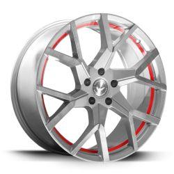 TZUNAMEE EVO Silver brushed undercut Trimline red 9x20