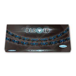 Ketju 10-v KMC DLC10, Black/Blue 116L