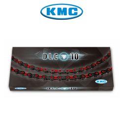 Ketju 10-v KMC DLC10, Black/Red 116L