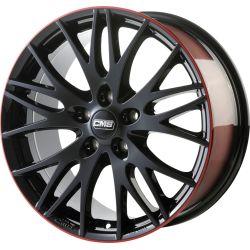C8 Black Red Gloss 7.5x17