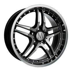 GT Black Polished Chrome Rivets 8x18
