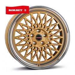 B gold rim polished 8.5x19