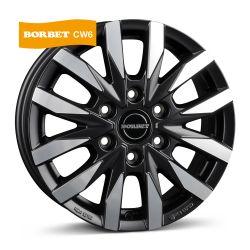 CW 6 black polished matt 7.5x18