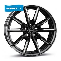 LX black matt silver spoke rim 8x18